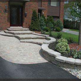 Asphalt and stonework